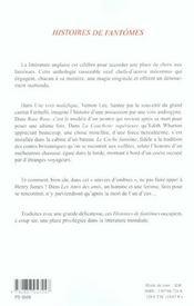 Histoires De Fantomes - 4ème de couverture - Format classique