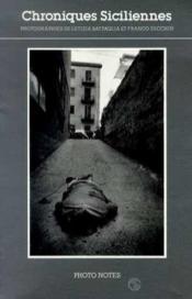 Chroniques Siciliennes Photo Notes N 2 - Couverture - Format classique