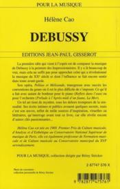 Debussy - 4ème de couverture - Format classique