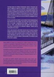Explorer les fondements ; l'éveil spirituel et religieux au début de l'école fondamentale en milieu pluraliste ; 30 mois-8 ans - 4ème de couverture - Format classique