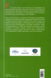 Geostatistics for environmental applications ; geoenv 2014 ; book of abstracts - 4ème de couverture - Format classique