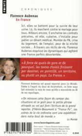 En France - 4ème de couverture - Format classique