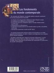 Histoire 2eme eleve 96 les fondements du monde contemporain - 4ème de couverture - Format classique