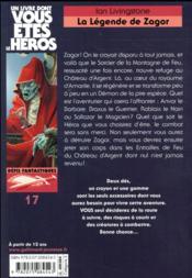 La légende de Zagor - 4ème de couverture - Format classique