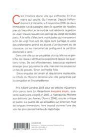 La chute du monstre ; Marseille année zéro - 4ème de couverture - Format classique