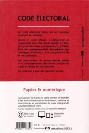 Code électoral, annoté (édition 2020) - 4ème de couverture - Format classique