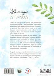 La magie est en vous - 4ème de couverture - Format classique