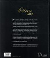 Céline Dion ; icône et femme de coeur - 4ème de couverture - Format classique