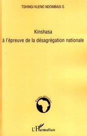 Kinshasa à l'épreuve de la désagrégation nationale - Intérieur - Format classique