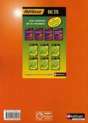 Économie ; terminale STG ; livre de l'élève (édition 2008) - 4ème de couverture - Format classique