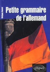 Petite grammaire de l'allemand - Intérieur - Format classique