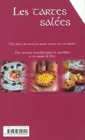 Les tartes salées ; 100 recettes - 4ème de couverture - Format classique
