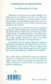 Chroniques Marquisiennes ; La Philosophie Du Rivage - 4ème de couverture - Format classique