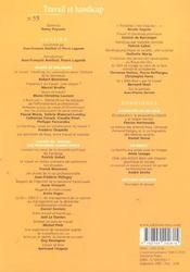Empan 055 - travail et handicap - 4ème de couverture - Format classique