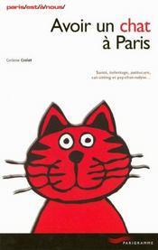 Avoir Un Chat A Paris - Intérieur - Format classique