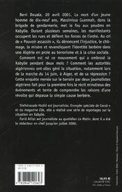 Vous ne pouvez pas nous tuer nous sommes déjà morts ; l'Algérie embrasée - 4ème de couverture - Format classique