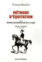 Méthode d'équitation - Couverture - Format classique