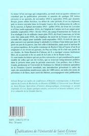 Une Lettre Par Jour ; Correspondance De Joannes Berger, Poilu Forezien Avec Sa Famille 1913-1919 T.1 - 4ème de couverture - Format classique