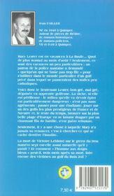 MARY LESTER T.7 ; l'homme aux doigts bleus - 4ème de couverture - Format classique