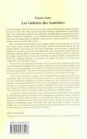 Violettes des tranchees (les) - 4ème de couverture - Format classique