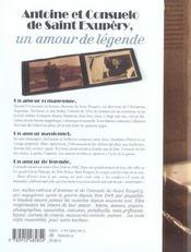 Antoine et Consuelo de Saint-Exupéry - 4ème de couverture - Format classique