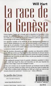 La race de la genèse ; le lien entre adn, civilisations disparues et les origines de l'homme - 4ème de couverture - Format classique