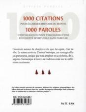 1000 merveilles de la sagesse chamanique - 4ème de couverture - Format classique