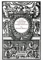Cours De Physique Resolutive, Vulgairement Dite Chymie.... - Couverture - Format classique