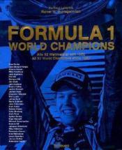 Formula 1 world champions - Couverture - Format classique