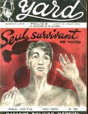 Yard - Seul Survivant - The Sole Survivor - N°39 - Couverture - Format classique