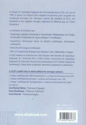 Lexique multilingue des technologies de l'information fr/ang/all/esp - 4ème de couverture - Format classique