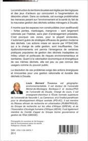 Gestion de déchets solides ménagers à Douala ; acteurs, pratiques urbaines et risques environnementos-sanitaires - 4ème de couverture - Format classique