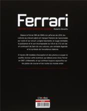 Ferrari ; histoire d'une marque de légende - 4ème de couverture - Format classique