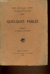 Quelques Fables. - Couverture - Format classique
