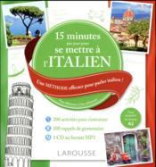 15 mn par jour pour se mettre à l'italien - Couverture - Format classique