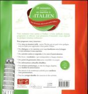 15 mn par jour pour se mettre à l'italien - 4ème de couverture - Format classique