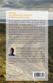 L'Afrique ; un continent aux ressources minières exceptionnelles - 4ème de couverture - Format classique