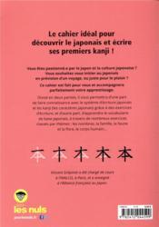 Cahier d'initiation au japonais pour les nuls - 4ème de couverture - Format classique