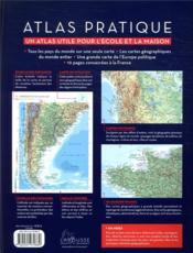 Atlas pratique ; un atlas pratique pour l'école et la maison - 4ème de couverture - Format classique