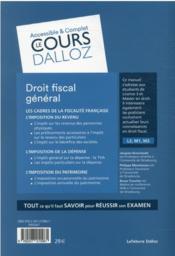 Droit fiscal général - 4ème de couverture - Format classique