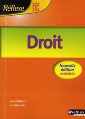 Droit ; terminale STG ; livre de l'élève (édition 2008) - Intérieur - Format classique