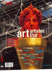 Area N.14 ; Art, Artistes, Etat - Intérieur - Format classique