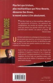 Da Vinci Code - 4ème de couverture - Format classique