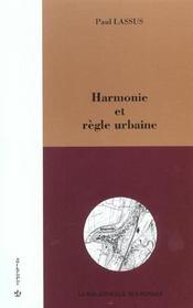 Harmonie Et Regle Urbaine - Intérieur - Format classique