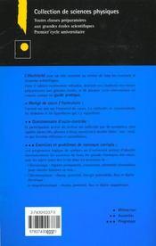Exercices et problemes de physique: electricite, electronique, electromagnetisme - 4ème de couverture - Format classique