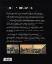 Face à rimbaud - 4ème de couverture - Format classique