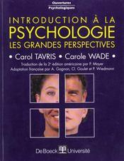 Introduction A La Psychologie Les Grandes Perspectives - Intérieur - Format classique