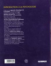 Introduction a la psychologie les grandes perspectives - 4ème de couverture - Format classique