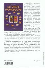 Le tarot horoscope - 4ème de couverture - Format classique