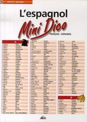 Petit Guide T.96 ; Mini Dico Français/Espagnol - Intérieur - Format classique